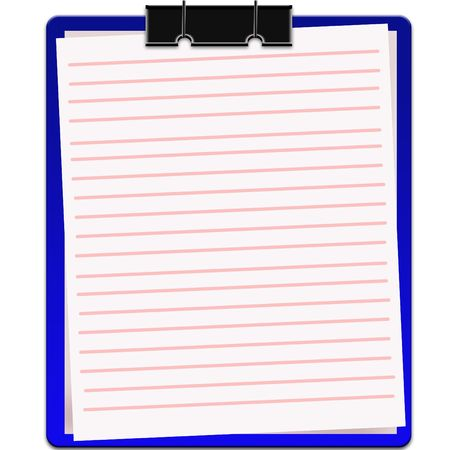 blank notebook Stock Photo - 6725187