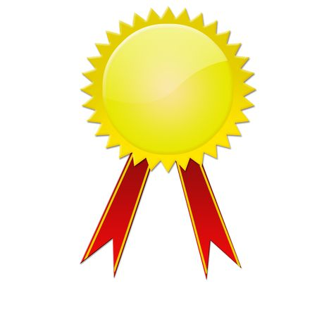 red and gold award ribbons and medal Stock Photo - 6851488