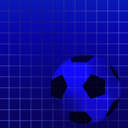 football on blue square background Stock Photo - 6851496