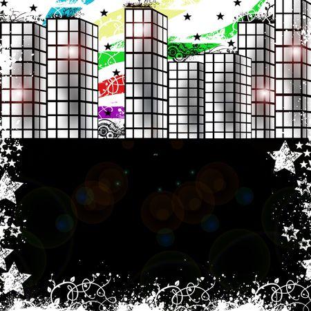 hamilton: modern city background Stock Photo