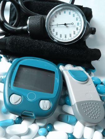 hypoglycemic: medical concept        Stock Photo