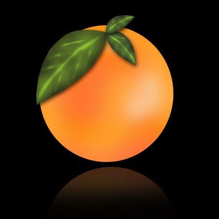 fruited: Orange on a black background