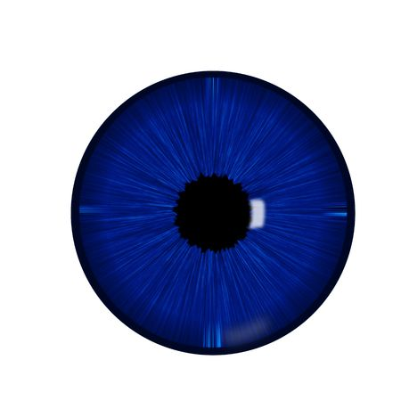 looking through an object: Beautiful blue eye macro