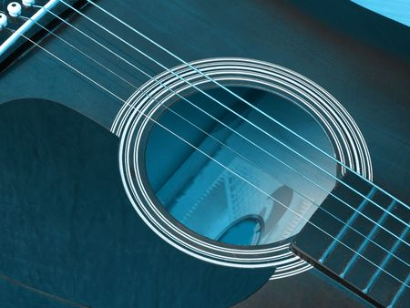 detail of classic guitar      photo