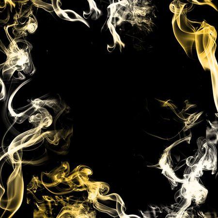 Smoke on black background  photo