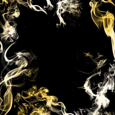 green smoke: Smoke on black background
