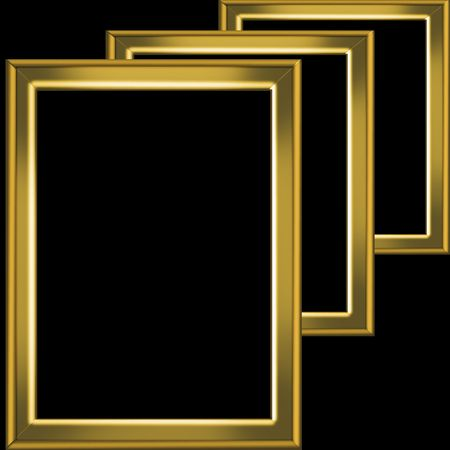 vintagern: gold frame  Stock Photo