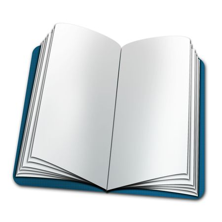 open book with blank Stock Photo - 7774803