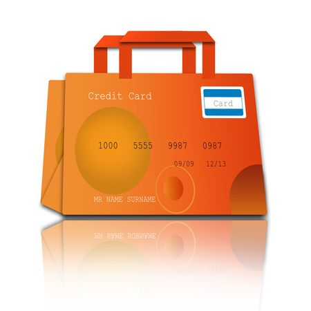 shopping bag made of credit cards photo