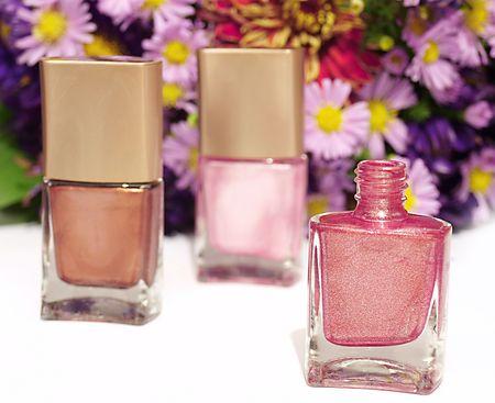many new nails polish  photo