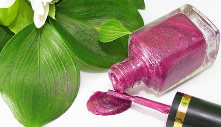 Spilled pink nail polish  photo