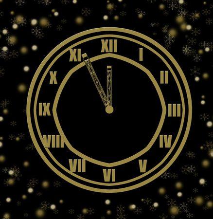 in midnight: five minute until midnight  Stock Photo