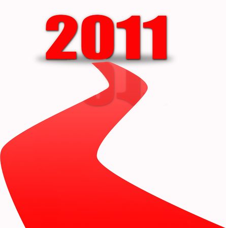 red carpet for new year Stock Photo