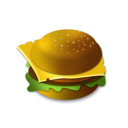 sandwich- Hamburger symbol design  photo