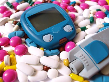 diabetes meter kit: medical concept