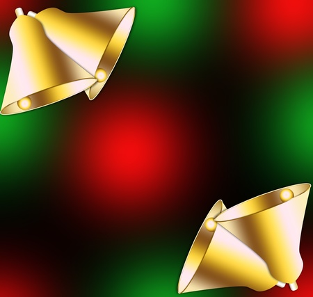 Christmas backgrounds with Christmas bells  photo