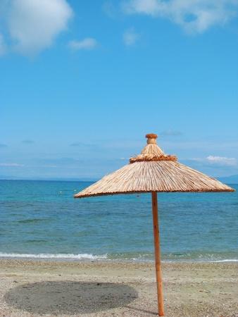 soltería: nadie en la playa  Foto de archivo