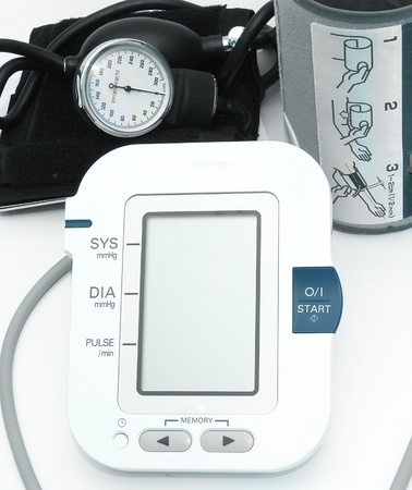 medical device: Blood pressure devices-new and old technology Stock Photo