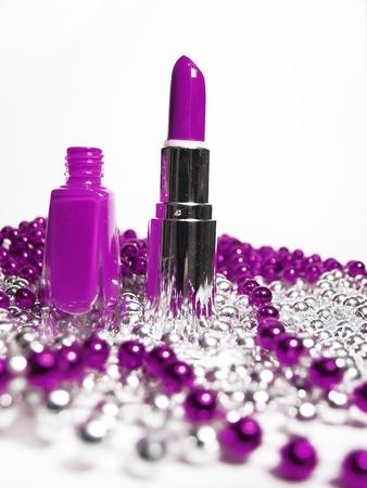 nail polish and lipstick photo