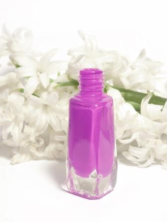 violet nail polish  photo