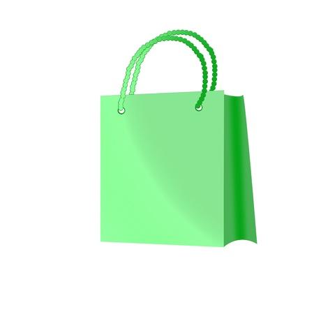shoping bag: green shoping bag