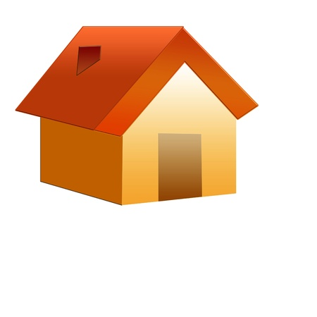 row of houses: Illustration of house  Stock Photo