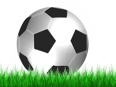 football on green grass photo