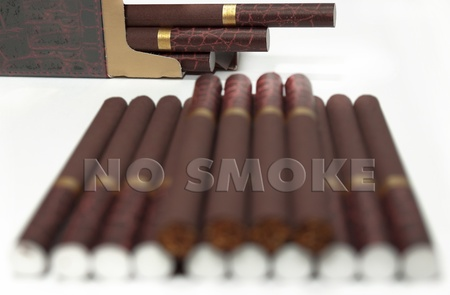 malign: no smoke  Stock Photo