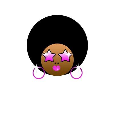 Beautiful black  woman with huge afro haircut Stock Photo - 11161787