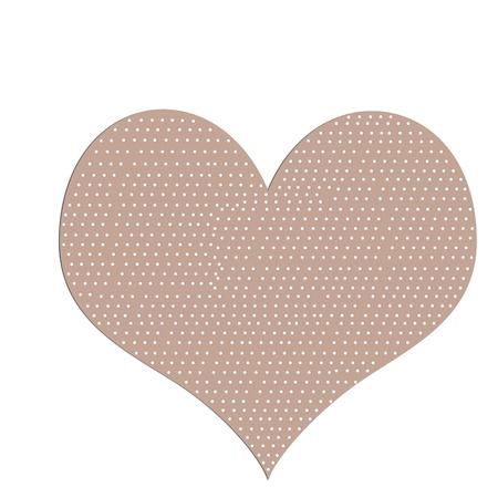 sticking: sticking plaster - heart shape