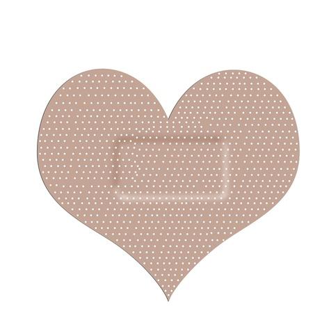 esparadrapo - en forma de corazón Foto de archivo