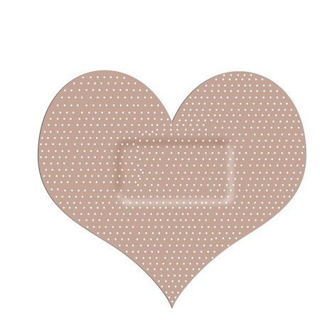 disappointment: sticking plaster - heart shape