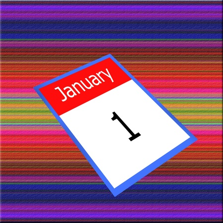 1 january: calendar 1 january