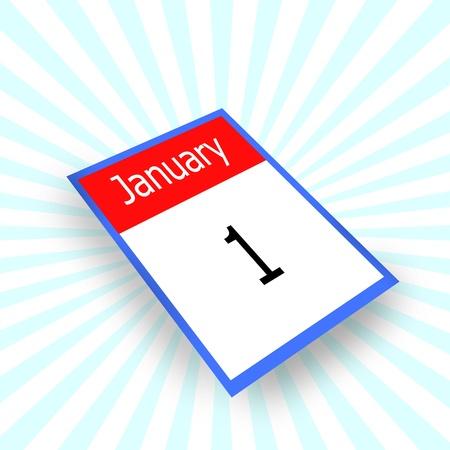 detachable: calendar 1 january