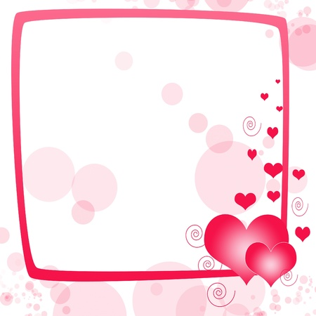Love background with hearts and place for text  photo
