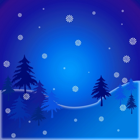 winter and snow background Stock Photo - 11249154