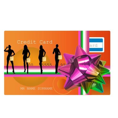 shopping christmas card photo