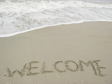 welcome to the beach photo