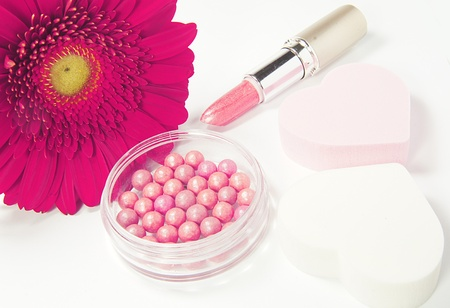 makeup with flower photo