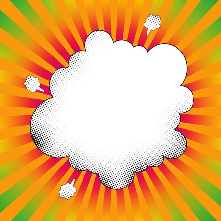 pop art explosion cloud  photo