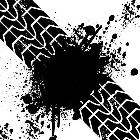 skid: Black tire track banner