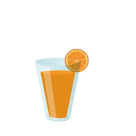 lunchroom: Glass of orange juice