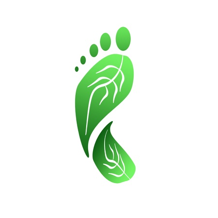 Green Carbon Foot Print Concept  photo