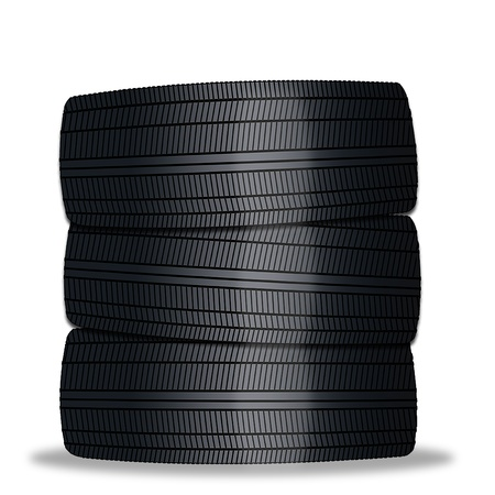 gear  speed: Pila di pneumatici auto Archivio Fotografico