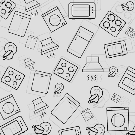 household appliances icons Stock Photo - 11975301