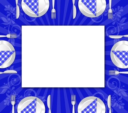 dinner plate , knife and fork  Stock Photo - 12024751