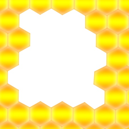 Honeycomb with frame for text - Abstract seamless pattern of honeycomb form. Background for your design.  photo