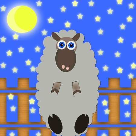 slumber: sheep jumping over a fence