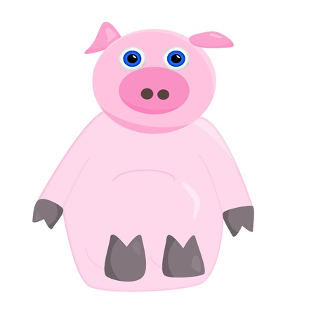 babyish: a cute pink pig  Stock Photo