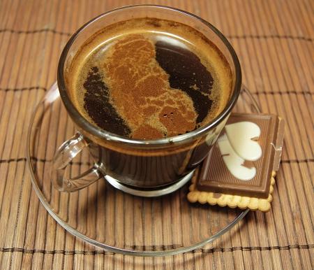 turkish coffee with chocolate cookie  photo